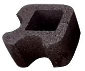 Блок колонный круглый угловой 32х32х19см с пигментом (цветной)